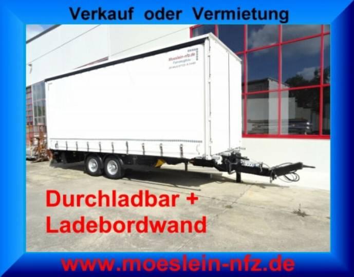 Möslein TPS 105 D-L Tandem Planenanhänger mit Ladebordwa - 2017