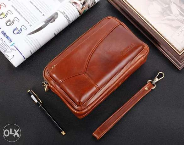Leather Clutch bag high quality الرياض -  2