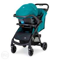 Joie Muze Travel System (With Pushchair & car Seat) in Juniper