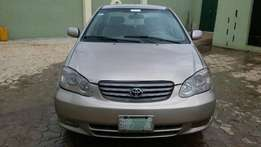 super clean Toyota corolla 2004 model first body leather interior