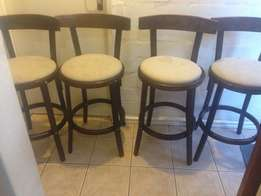 4 Wooden Bar chairs