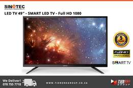 "Sinotec 49"" - SMART LED TV - Full HD 1080 - 5 Years Warranty"