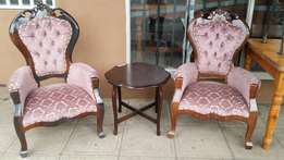 2 vintage victorian chairs