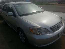 Perfectly used toyota corola 2004 tincan cleared buy n drive