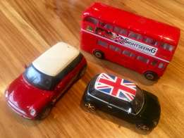 Burago, Maisto, Real Toy Model Cars and Double-Decker London Bus