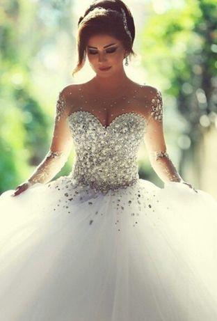 f6f259bef565205 Свадебное платье белое с кристалами недорого купить свадебное платье Киев -  изображение 1