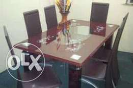 Brown Six Seater Dining Table