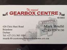 The original gearbox centre