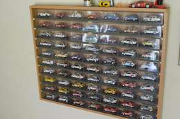 Complete set of 70 De Agostini Rally Cars in display case
