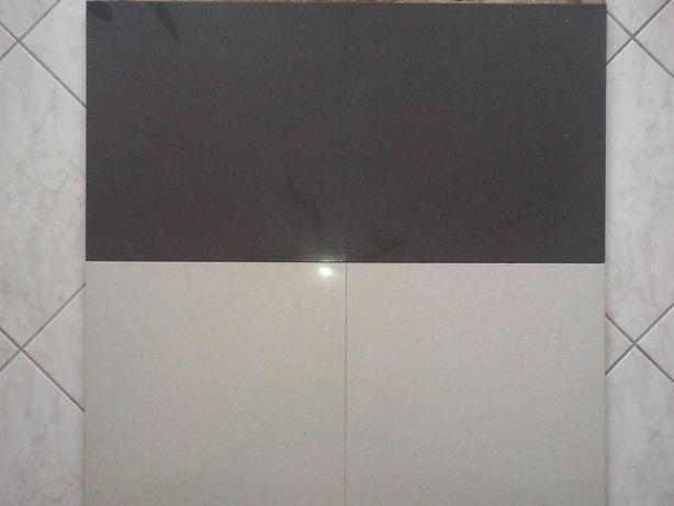 Gres 400x400 Szkliwiony Polerowany Płytki Podłogowe 40x40cm Czarny