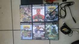 Play station 2 with 6 games for sale now 600