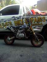 STRIPPING: 125cc pitbike at clives bikes parts