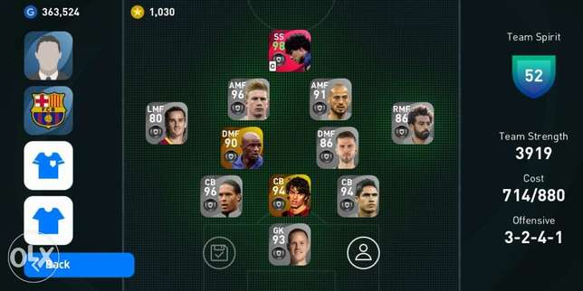 Pes 2021 mobile account 100000 L