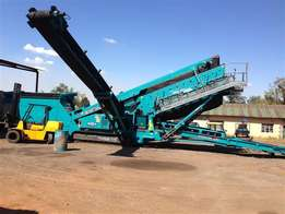 Used 2013 Powerscreen Chieftain 1700 Mobile Triple deck screen.