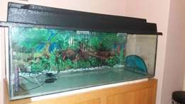 Fish tank and Cabinet reinforced with steel for sale