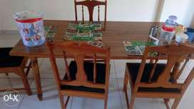 Kenya Dining Table With Six Chairs