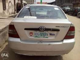 Fairly used Bank type Toyota corolla at give away price