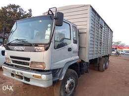 Lorry,with body cover