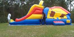 Inflatable Bounce House Castle Ball Slide Obstacle Course Trampoline