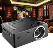 Home Theater LED LCD Mini Projector Cinema USB HDMI SD AV Video , Blac