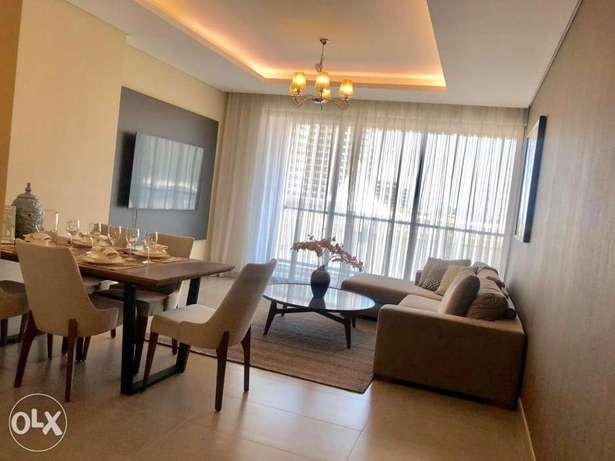 Brand new, lagoon view, 3BR apartment + maidroom for rent in amwaj