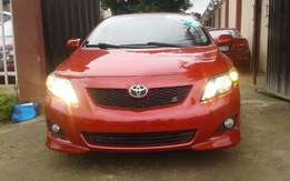 Extra clean foreign used Red Toyota Corolla Sport 2010 model