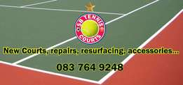 Tennis court construction,repairs,resurfacing,fencing,nets sales,post