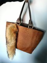2c6db32e573fb Torba Zara shopper z włosia brązowa skóra kita gratis