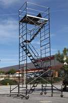 """scaffolding stairway case rolling tower 5' X 7' X 20'8"""" DECK HIGH"""