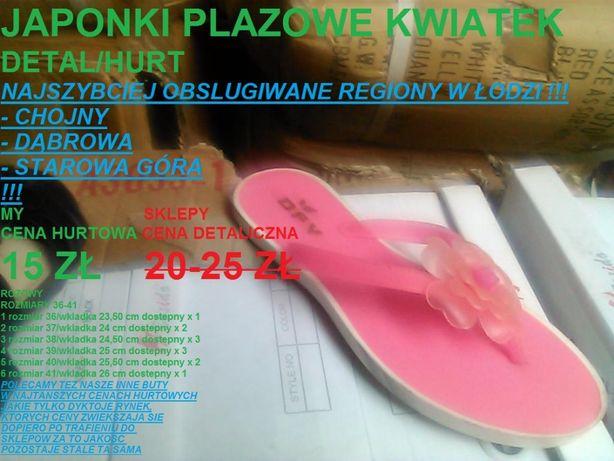 7d0c0cb4279 rozowe japonki plaza roz 36-41 i inne buty DETAL CENY HURTOWE ZA PARE Łódź