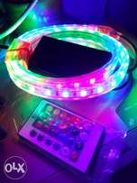 smooth fade strobe flash red blue LED strip light remote controller