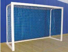 Standard goal post with net