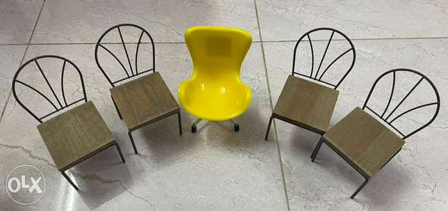 5 Small toy Chairs الرياض -  3