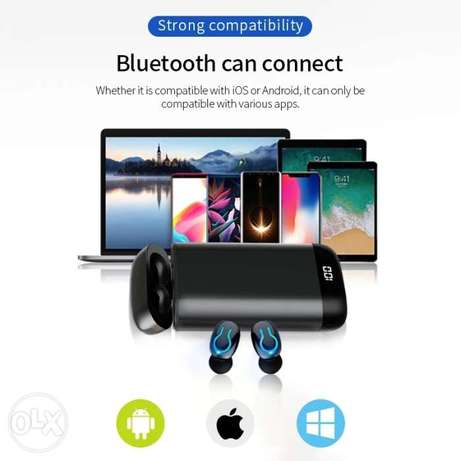 Bluetooth earphone Q66 with power bank الرياض -  8