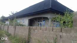 80percent completed 4 bedrooms bungalow for sale at idi-oya