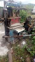 Block moulding machine with lister engine and the water drums also