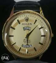 Rolex leather auto date