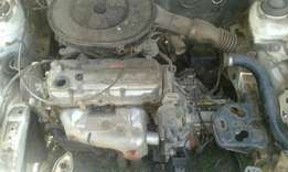 Mazda 1.6 Tracer engine & gearbox.