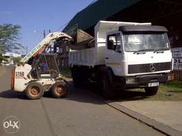 Bobcats tlbs n tipper trucks for hire