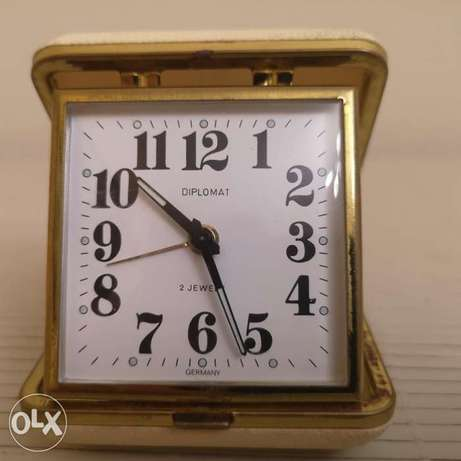 Vintage Diplomat Folding Travel Clock
