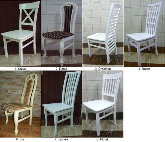 Krzesła Stół Bukowe Białe Nowe Kuchnia Bar Restauracja Salon