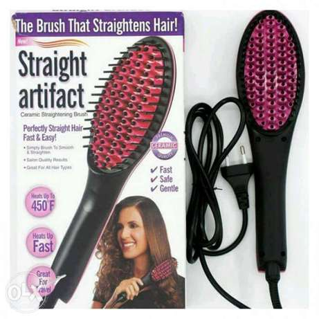 Hair straightens brush easy to straight your hair