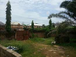 Plot of land with fence and gate for sale
