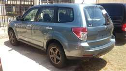 Silver Subaru Forester with alloy rims 2010 model