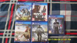 PS4 Games for sale, like new