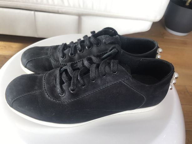 b70e090d46db4 Czarne skórzane adidasy sneakersy gino rossi kazar 36 z perełkami Kłodne -  image 1