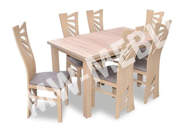 Stół 6 Krzeseł Dąb Sonoma Bogata Kolorystyka Producent