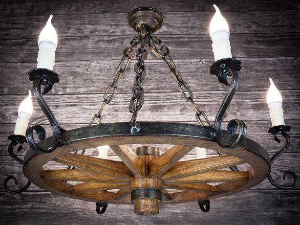 Lampa Do Altany Ogrodowej żyrandol Z Koła Od Wozu75cm Tarnów