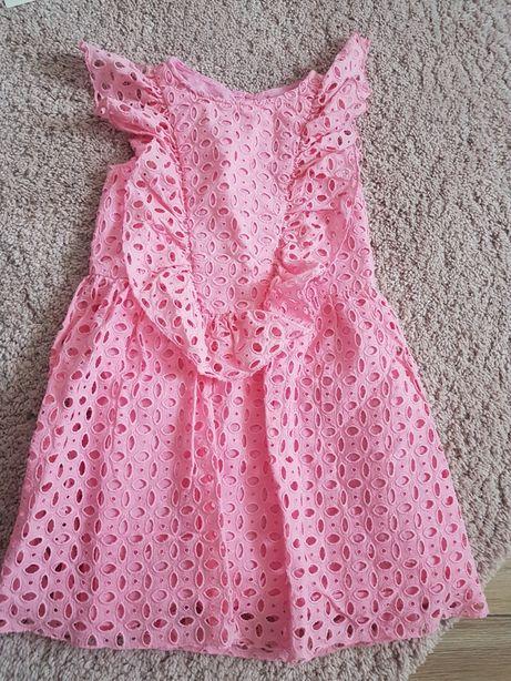 Różowa sukienka zara 128 Męcina • OLX.pl