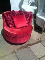 """""""The red"""" round chair"""